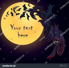 halloween raven background flock bats crows fly over moon stock vector 327203939 shutterstock