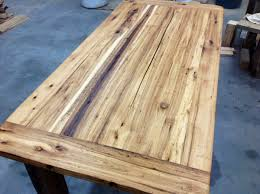 Hardwood Table Tops by Recycled Hickory Barn Wood Table Top Reclaimed Wood Michigan