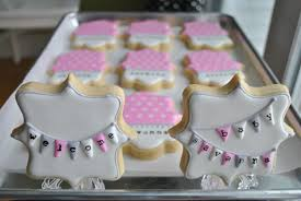 pink grey and white baby shower mama mayer bakery