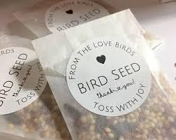 bird seed wedding favors birdseed etsy
