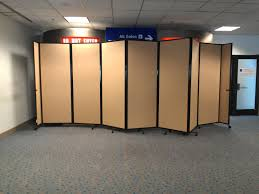 portable room dividers dfw airport features versare u0027s room dividers within construction zones