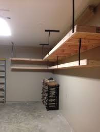 Building Wood Shelves Garage great plan for garage shelf do it yourself home projects from