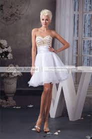 2016 short cocktail party dress a line wedding party dress gold
