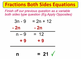 Multi Equations With Variables On Both Sides Worksheet Fractions On Both Sides Equations Passy S Of Mathematics