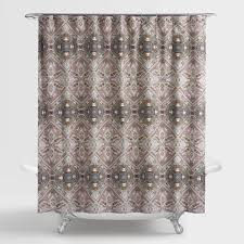 Brown Waffle Weave Shower Curtain by Shower Curtains U0026 Shower Curtain Rings World Market