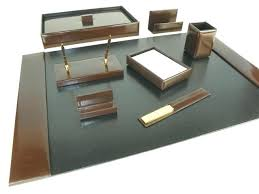 Desk Sets And Accessories Leather Desk Accessories Office Desk Set Leather Desk Set Bomber