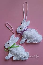 easter sewing craft washcloth easter bunny ornaments
