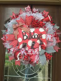 georgia bulldogs wreath bulldog wreath college football uga