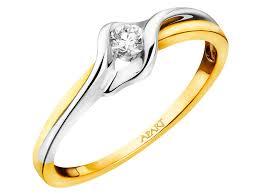apart pierscionki zareczynowe pierścionek z żółtego złota z brylantem wzór 167 137 apart