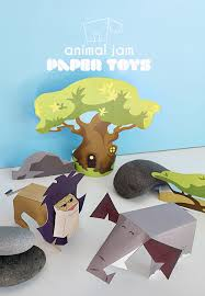 animal jam paper toy printables kimbara animal jam game jam