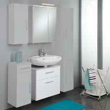 badezimmer unterschrank hã ngend waschtisch mit spiegelschrank gesdana in weiß pharao24 de