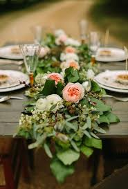 wedding flowers table fresh flower runners brides