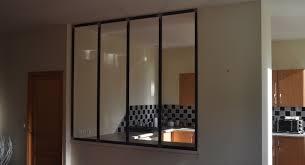 verriere entre cuisine et salon création d une verrière acier entre salon cuisine à pleurtuit