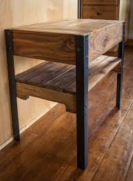 Making Wooden End Table by Hand Made Side Table Created Out Of Repurposed Pallet Wood And
