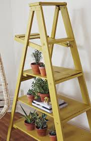 Making A Wooden Shelf Unit by Diy Ladder Display Shelves I Love This Cute Idea For A Covered