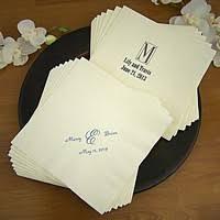 wedding napkins personalized wedding napkins my wedding reception ideas