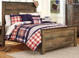 Bedroom Set In Salt Oak Rustic Casual Contemporary 6 Piece Full Bedroom Set Trinell Rc