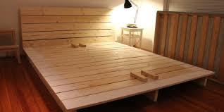platform bed frame plans for magnificent homemade platform bed