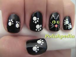 here is some fun black cat nails watch the video http