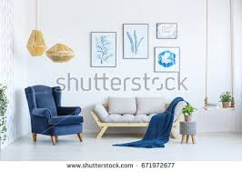 white home interior sofa armchair posters stock photo 637114624