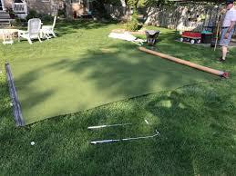 backyard putting green designs a backyard and yard design for