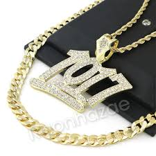 big rope necklace images Iced out big number 1017 charm rope chain diamond cut cuban chain jpg