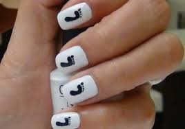 nail art footprints youtube