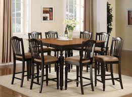 Photo Kitchen Tables Oak Images In Square Dining Table Seats - Bar height dining table with 8 chairs