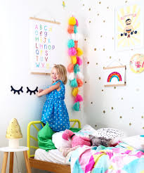 Bedroom Wall Stickers For Toddlers Cool Kids Rooms Toddler Bedroom With Rainbows And Unicorns