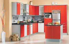 kitchen modern home style modular kitchen modular home style with black countertops modern refrigerator and red white cabinets