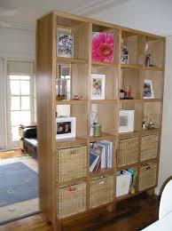interior pretty bookcase room divider in cheap living room