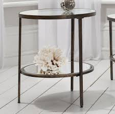 Metal Side Tables For Living Room Temperley Bronze Glass Side Table Within Glass And Metal