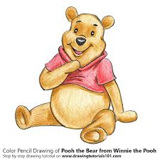 pooh bear winnie pooh colored pencils drawing pooh