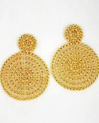 gold disc earrings disc earrings gold the pink crawfish