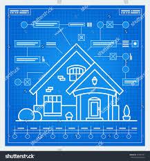 house blue print house blueprint scheme vector stock vector 373940791 shutterstock
