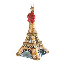 mackenzie childs glass ornament eiffel tower