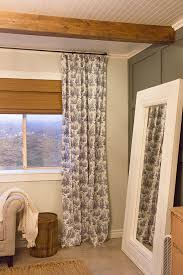 Hanging Curtains From The Ceiling Master Makeover New Curtains U0026 Diy 12 Rod Jenna Sue Design Blog