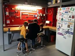 garage workbench and storage furniture accessories design in