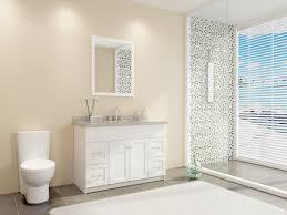 Bathroom Laminate Tile Flooring Bathroom Modern Toilet With White Fresca Vanity And Mirror Vanity
