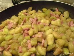 recette cuisine courgette courgettes aux lardons et crème fraîche recette facile les