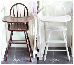 Antique Wooden High Chair Shabby To Chic Upcycled Wooden Highchair Amy Antoinette