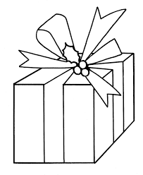 learning christmas coloring pages big present bow