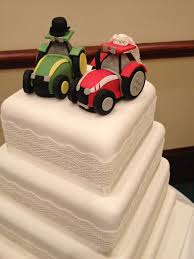 tractor wedding cake topper tractor wedding cake topper made individual wedding c flickr