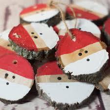 5 log slice santa christmas ornaments u2013 gft woodcraft