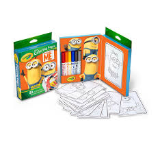 crayola mini coloring pages despicable edition art activity