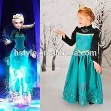 Frozen Costume 2017 New Design Kids Princess Elsa Dress Cosplay Costume In Frozen
