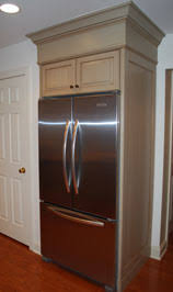 Built In Refrigerator Cabinets Refrigerator Surrounds Decorative Painting By Artisan Interiors