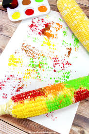 fun corn cob craft painting for kids natural beach living