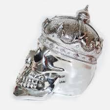 silver skull crown ornament lulah