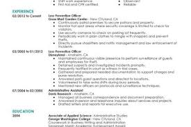 Police Officer Resume Sample by Loss Prevention Officer Resume Sample Reentrycorps